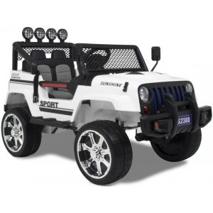Monster Jeep 4x4 kidscar white side view