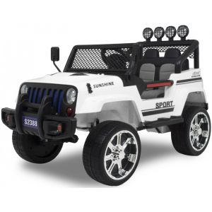 Monster Jeep 4x4 white