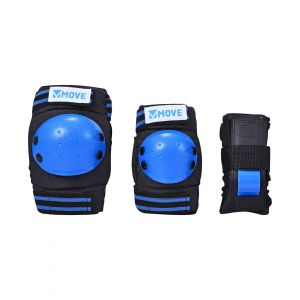 Move skate protection 3-piece blue