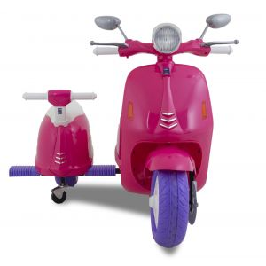 Vespa kids electric scooter sidecar pink side scooter