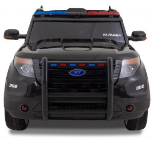 Policie Jeep Ford Style kidscar black front view