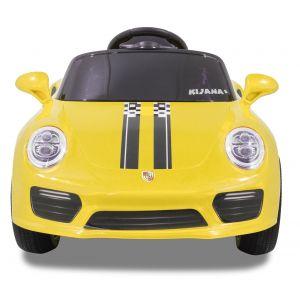 Speedy Porsche Style kidscar yellow front view