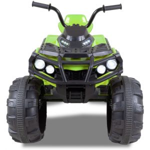 Electric quad kids green front view headlights