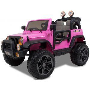 Jeep kids car 2 seater pink