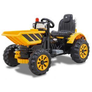 Kijana tractor kinderauto vooraanzicht voorbanden zwaailamp