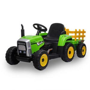 Kijana electric kids tractor with trailer green