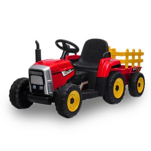 Kijana electric kids tractor with trailer red