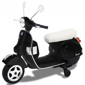 Vespa kids electric scooter black side view