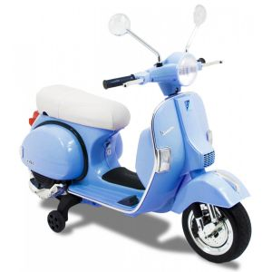Vespa kids electric scooter blue side view