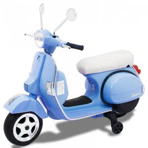 Vespa electric kids scooter blue