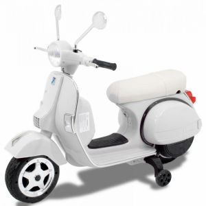 Vespa kids electric scooter white side view