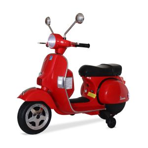 Vespa electric kids scooter red