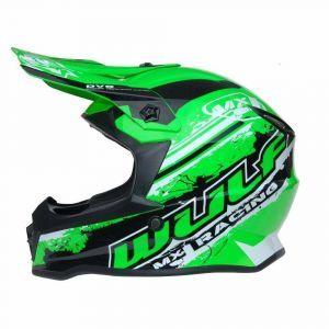 Wulfsport children's helmet Junior Cub Off Road Pro green