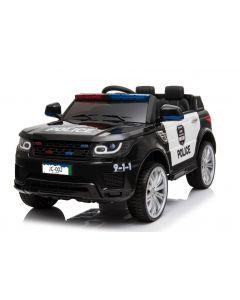 Police kids car Land Rover style black
