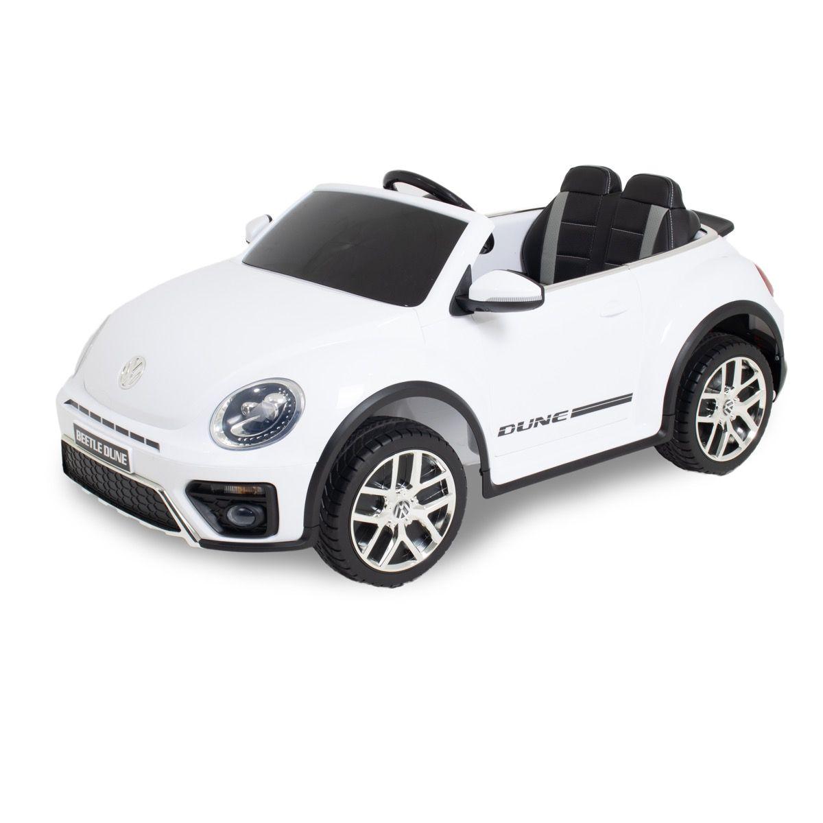 VW electric kids car Dune Beetle white
