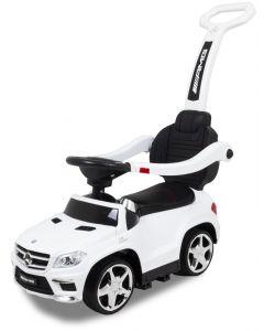Mercedes GL63 push car with push bar white
