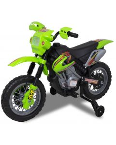 Electric kids motorcycle green