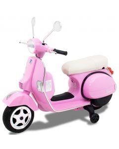 Vespa electric kids scooter pink