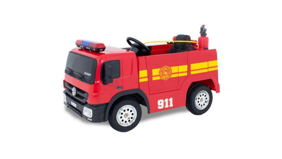 Fire truck and police car! Every child's dream